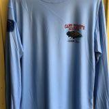 Capt Tonys Saloon Long Sleeve Blue DriFit Front