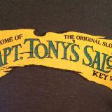Capt Tonys Saloon Beach T-Shirt Front Close Up