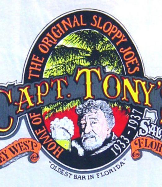 Capt Tonys Saloon Classic Logo Tank White Back