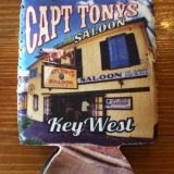 Capt Tonys Saloon Koozie Can