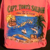 Capt Tonys Saloon Map T-Shirt Back