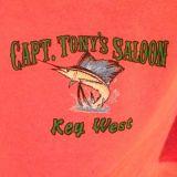 Capt Tonys Saloon Map T-Shirt Close Up