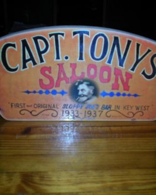 Capt Tonys Saloon Orange Sign