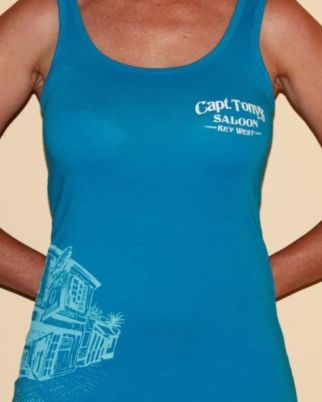 Capt Tonys Saloon Tank with Imprint front view
