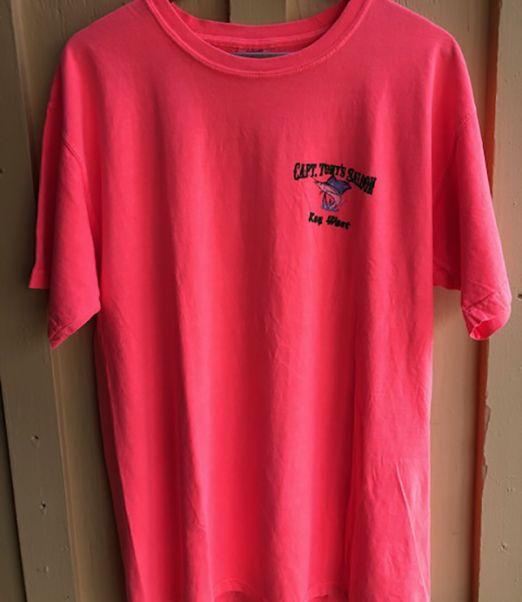 Capt Tonys Saloon Map T-Shirt Front