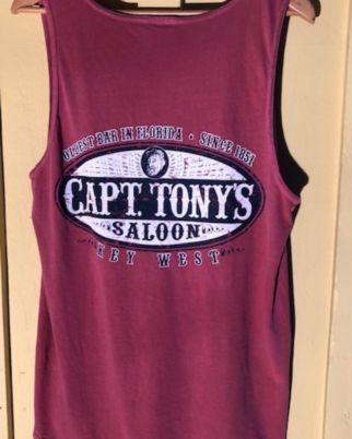 Capt Tonys Red Tank Top Mens
